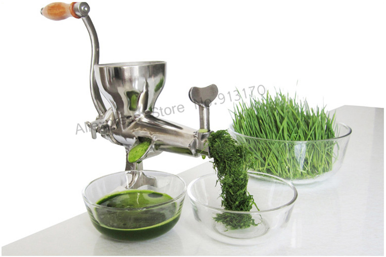 Wheat Grass Juicer Wheatgrass Fruit Juice Extractor Stainless Steel Pro Heavy Duty with Hand Crank