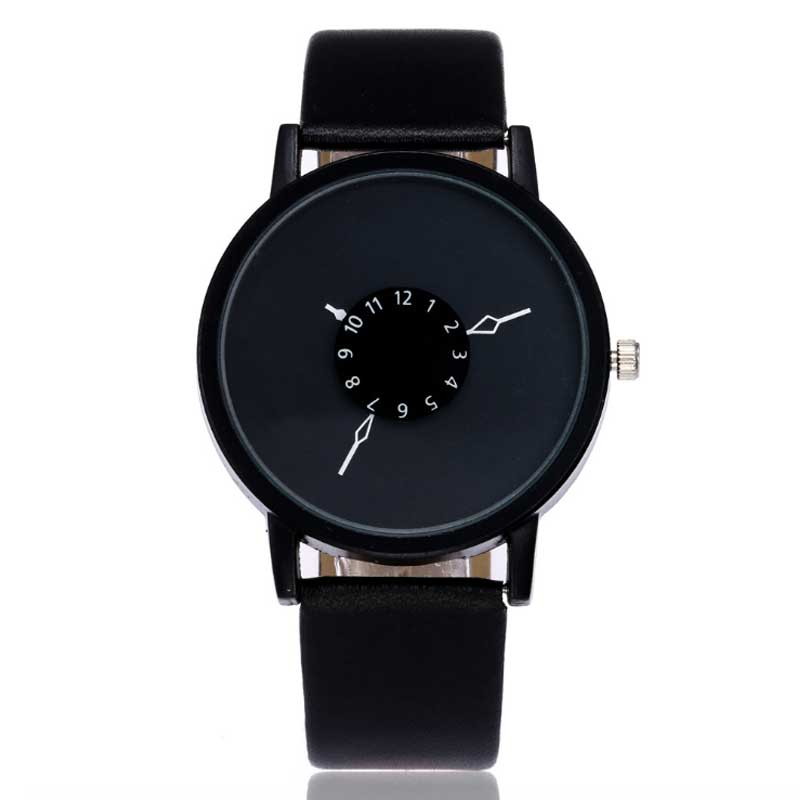 Fashion Student Watches Girl Brand Fashion Dress Ladies Watch Leather Stainless Women Personality Turntable Luxury WristWatch