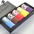 2016 chegada nova mens underwear logotipo ck cainai kaimo logotipo underwear uma caixa de 5 peças homens underwear boxer shorts multicolor MT263