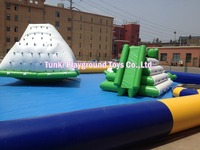 Inflatable Water Iceberg / Floating Climbing Wall For Sale