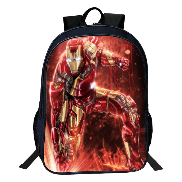 570866bf9a4d Hot Sale Oxford 16-inches Printing Cartoon Avengers Iron Man Boys Backpacks  for Children School Bag Kids Schoolbag Tenns Bookbag