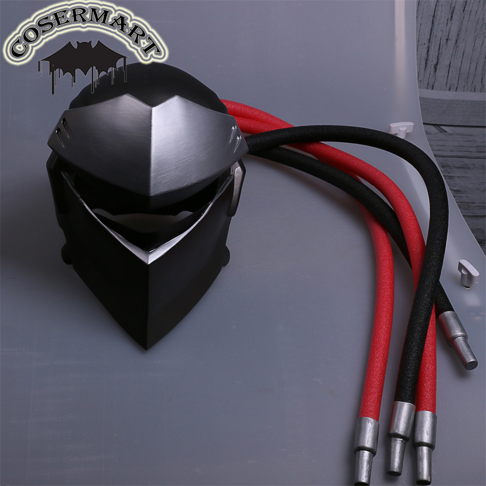 New Over and watch Genji Overhead Mask Cosplay Costumes PVC OW Helmet Game Halloween Party Prop (3)