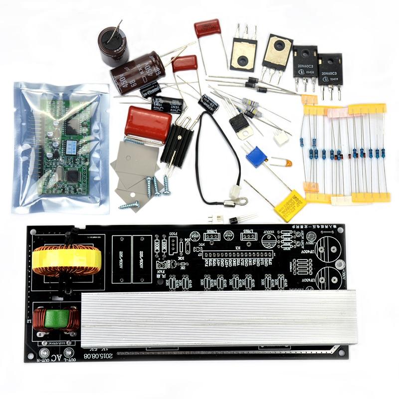 ФОТО 1000W Pure Sine Wave Inverter Power Board Post Sine Wave Amplifier Board DIY Kit Free Shipping