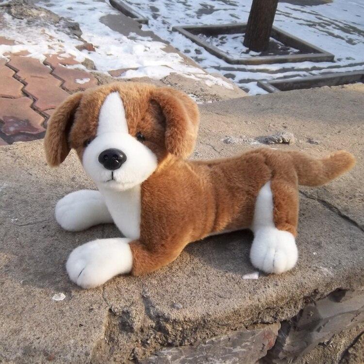 ФОТО large 50cm brown prone dog plush toy soft doll high quality birthday gift b4878