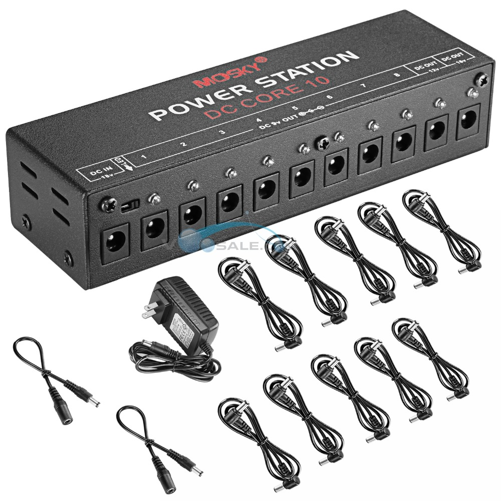Mosky DC-CORE10 Pedal Power Supply For 9V 12V 18V Guitar Effect Pedal 10 Isolated Outputs Compact Portable Guitar Accessories