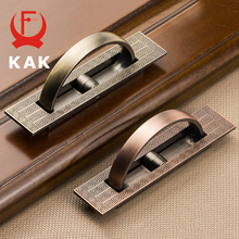 KAK Vintage Tatami Hidden Door Handles Zinc Alloy Recessed Flush Pull Cover Floor Cabinet Handles Furniture Handles Hardware