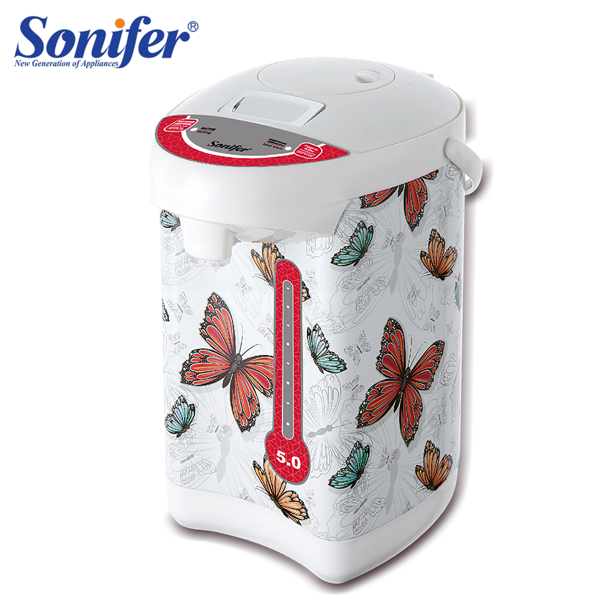 Electric Air Pots Thermos 5L Electric Kettle Big Capacity Temperature Control Automatic Heat Preservation Boiler SoniferElectric Air Pots Thermos 5L Electric Kettle Big Capacity Temperature Control Automatic Heat Preservation Boiler Sonifer