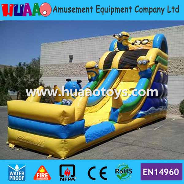 Commercial minions inflatable Water Slide with CE blower and PVC bag and repair kit
