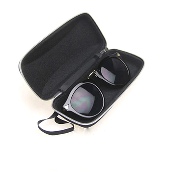 High Quality 1 Pc Eyewear Cases Sunglasses Protector Box Protable Rectangle Sunglasses  With Lanyard Zipper Hard Eye Glass Case