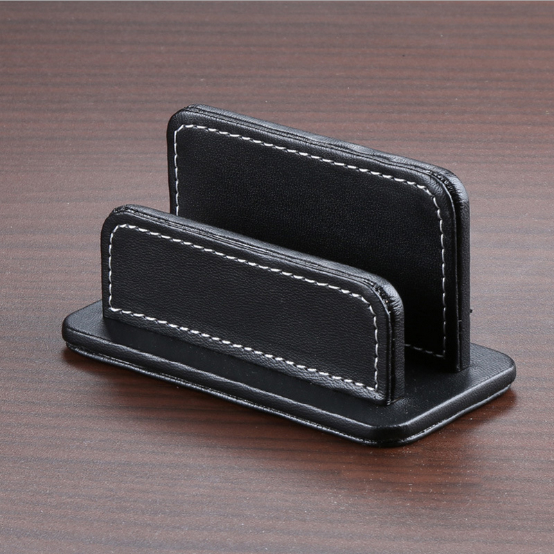 Business card case box file holder gallery card design and card simple pu leather business card box bank cards oragnizer holder simple pu leather business card box reheart Images