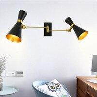 ポストモダン調整可能な壁ランプ現代壁ライト燭台寝室キッチン階段リビングルームの装飾ホーム照明器具