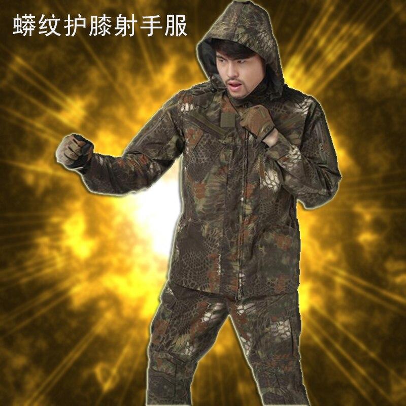 ФОТО freeshippingPythons Grain Tactical Softshell Camouflage Outdoors Jacket Men Army Sport Waterproof Hoody Clothing Military Jacket
