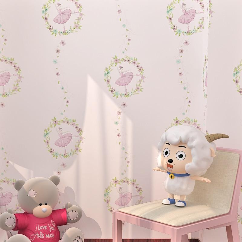 papier-peint-non-tisse-rose-ecologique-papier-peint-a-motif-font-b-ballet-b-font-dessin-anime-3d-pour-filles-pour-la-decoration-de-la-maison-pour-chambre-d'enfants
