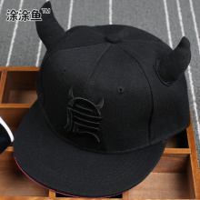 Drop shipping 2016 Kids Snapback Cartoon Embroidery Children Cotton Baseball Cap with Ox Baby Girls Snapback