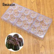 ENGDASH 3D Chocolate Molds Polycarbonate Christmas Tray Baking Pastry Bakery Tools for Bar Form Bakeware Moulds DIY