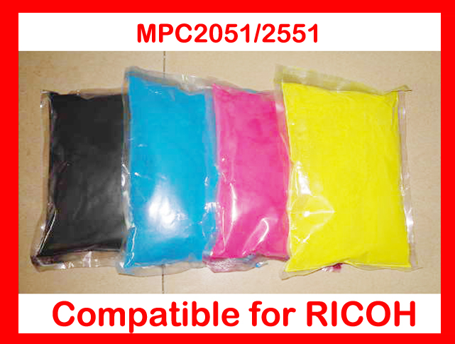 High quality color toner powder compatible Ricoh MPC2051 MPC2551 MP C2051 C2551 2051 2551 Free Shipping high quality color toner powder compatible ricoh c1500 free shipping