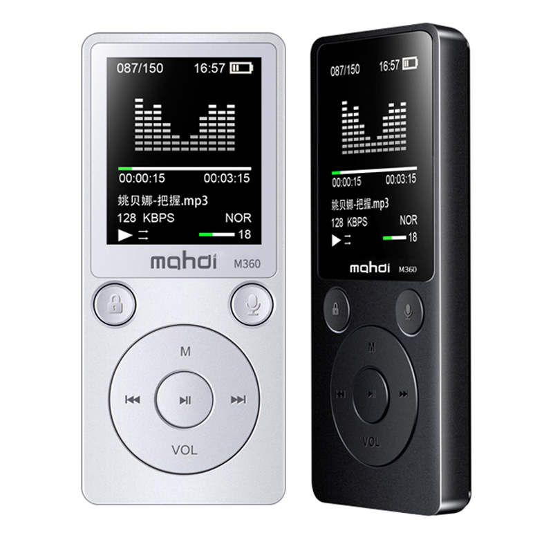 M360 Original HiFi MP3 Player with Speaker Metal High Quality 8GB Lossless Music Player Supports 128GB