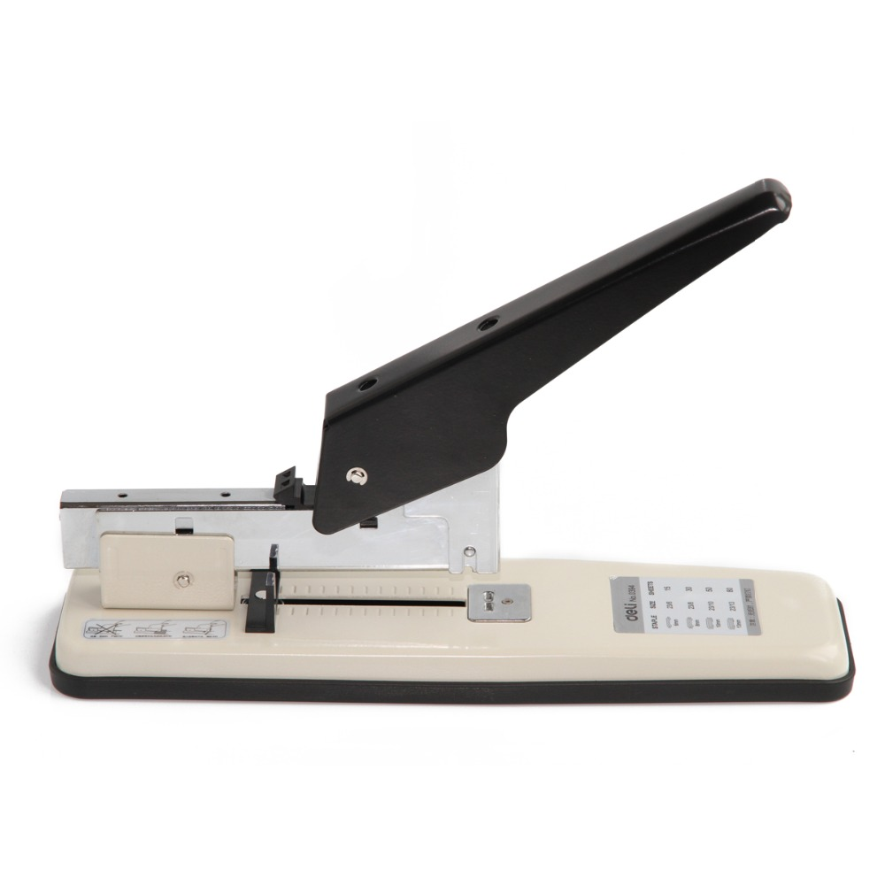 Deli Large Thick Heavy Duty Stapler 80 Bookbinding Office Supplies Stationery 0394 210 sheets deli stationery thick layer deli 0383 heavy duty manual jumbo stapler large thickening effortless heavy duty stapler