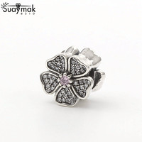 925 Sterling Silver Women Wholesale Butterfly Knot Bag Accessories Charms Bead Fit For Pandora Bracelet DIY