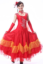 red flamenco dresses spanish clothing standard dance dresses dance ballroom waltz dresses tango modern dance costumes
