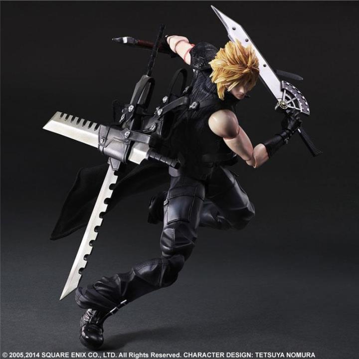 Elsadou 26cm Play Arts PA Final Fantasy Cloud Action Figure Toy Doll Collection