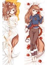 التوابل و الذئب هولو المعانقة الجسم مثير Otaku Dakimakura أنيمي فتاة كيس وسادة غطاء