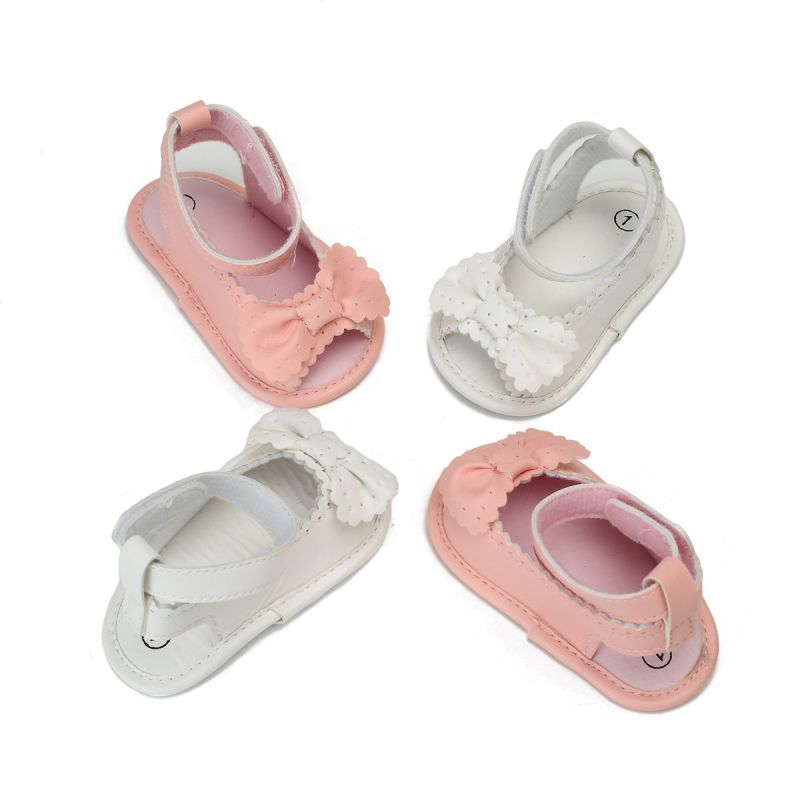 Artificial PU Newborn Baby Girls Low Tube First Walkers Children's Shoes Breathable Wear-resistant Toddler Casual Princess Shoes
