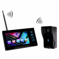 2.4GHz Wireless Doorbell Video Door Phone intercom Doorbell Support Photo Shooting Storage for Home Security F4519A