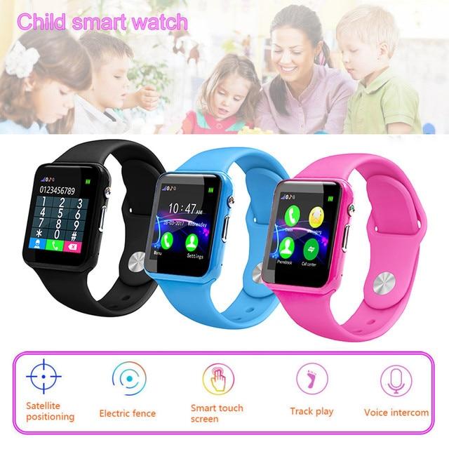 2018 New Fashion Kid Children's Smart Watch GPS Tracker IP67 Waterproof Fitness