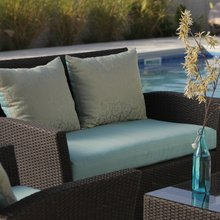 Delphi All Weather Patio Furniture Wicker Chat Set