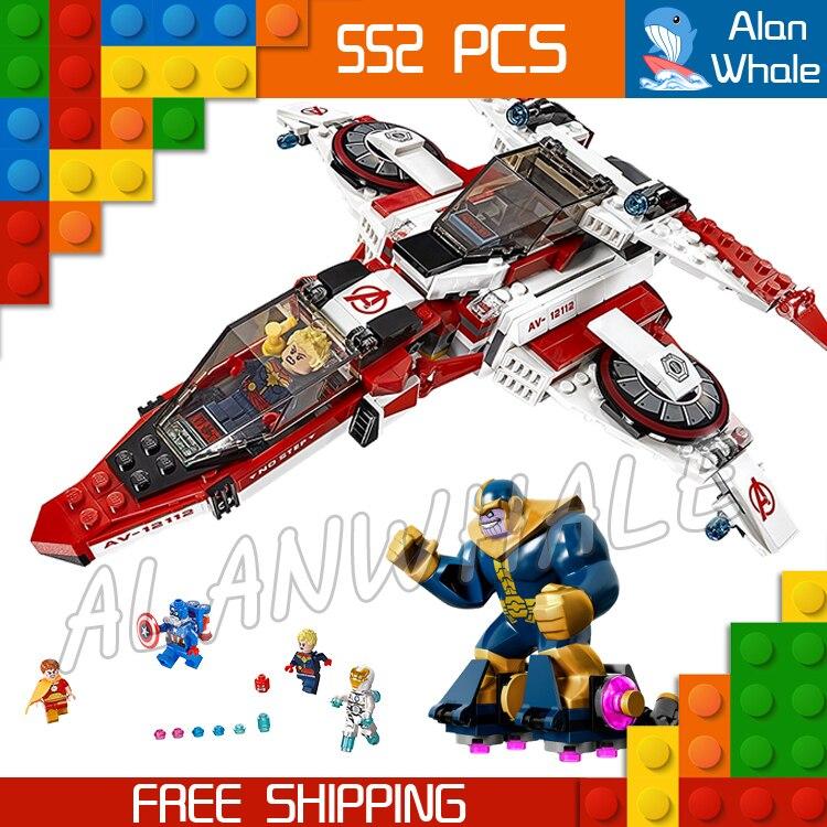 552pcs 07022 Captain America Bela Marvel DC Comics Avenjet Space Mission DIY Building Blocks Compatible with Lego samsung rs 552 nruasl