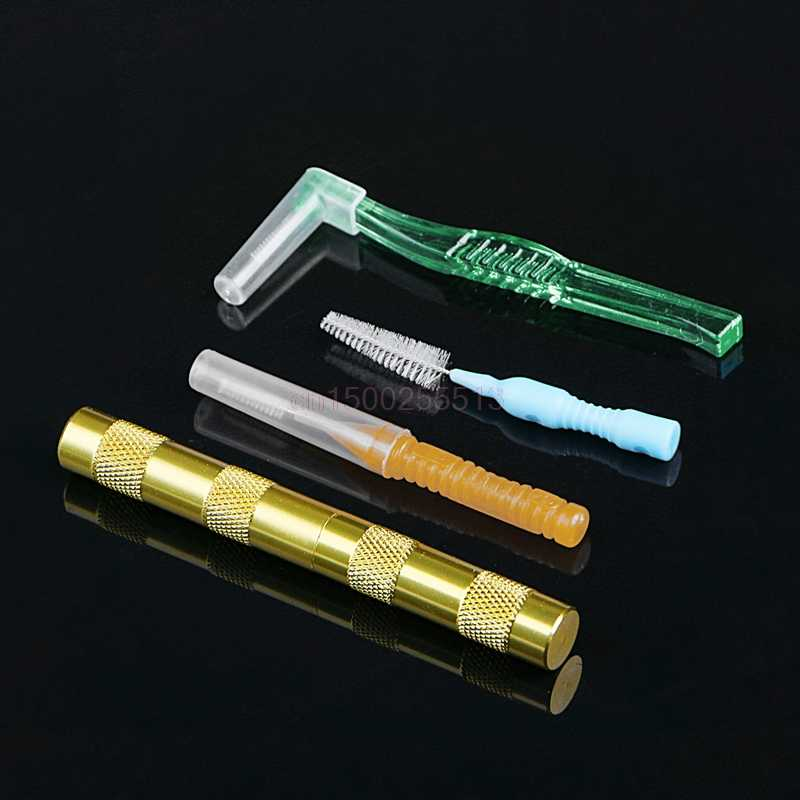 Limpeza airbrush bico pistola reparação agulha & escova kit conjunto de ferramentas