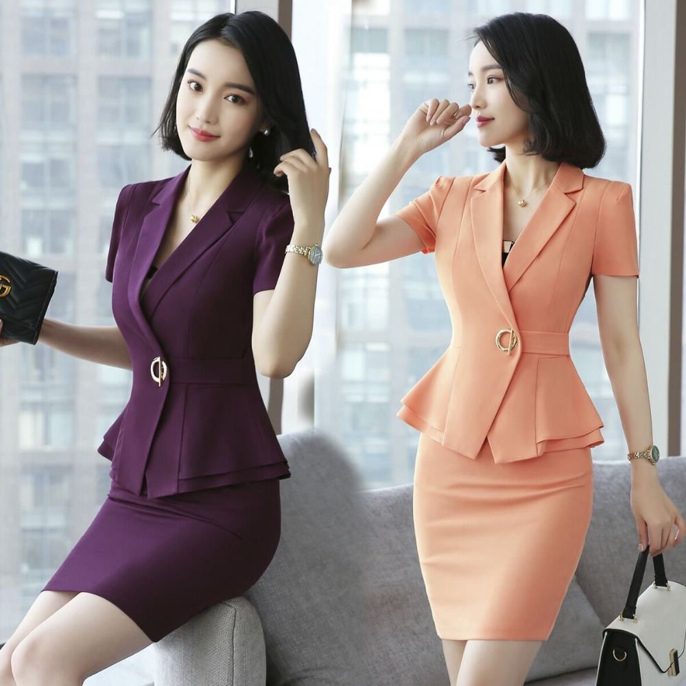 Office lady set two pieces women blazers and mini skirts korean style fashion suit and hot skirts spring/autumn women slim sets