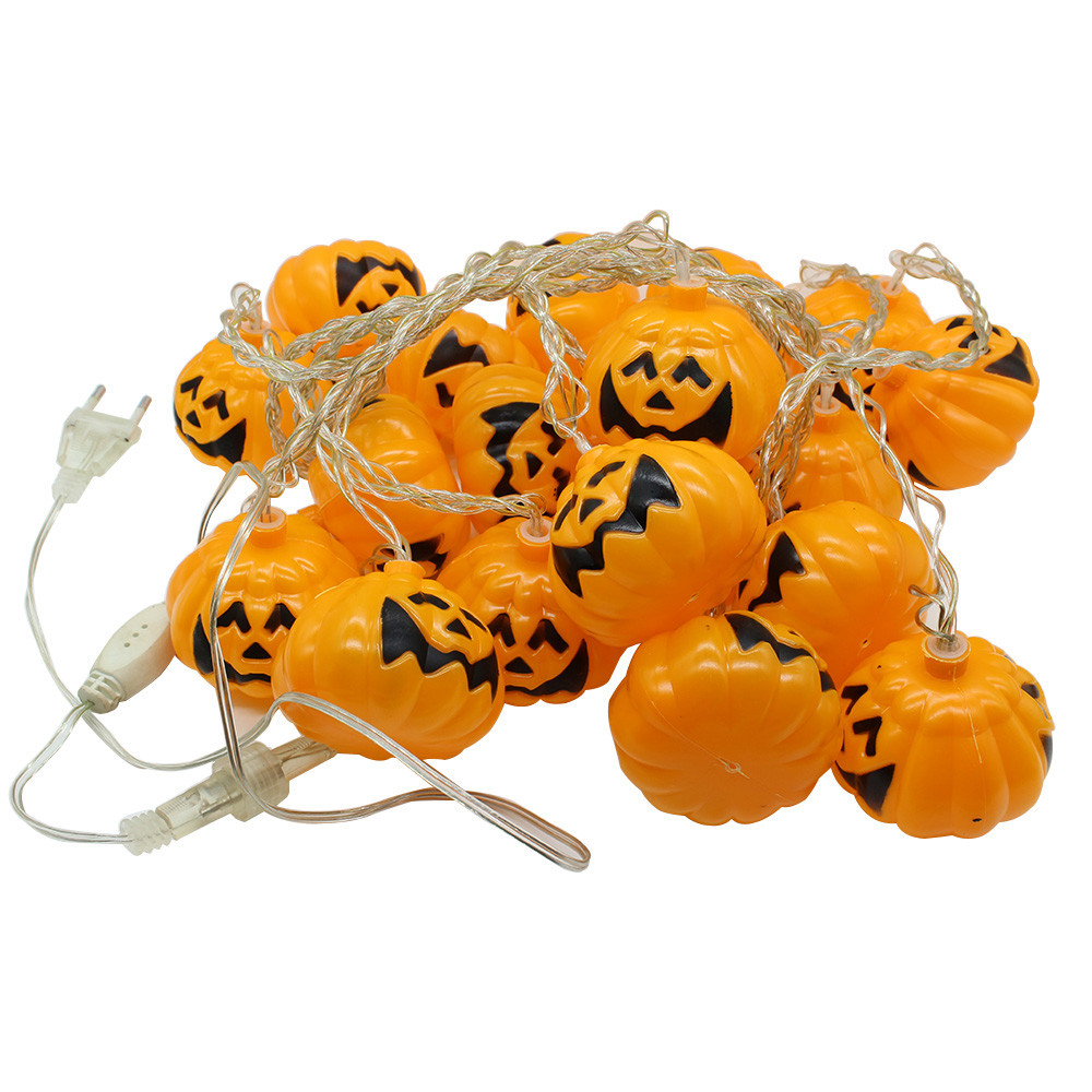 Compare prices on light pumpkin bars online shoppingbuy low price halloween ac 220v 20 pcs led skullpumpkin string light lamp festival party outdoor bar aloadofball