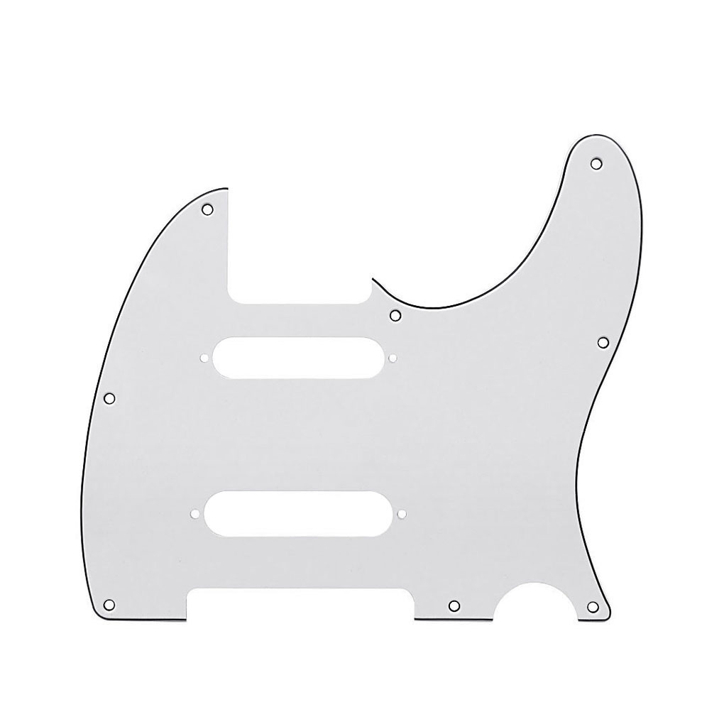 1PC Ivory White 3Ply 8 Holes Guitar Pickguard /& Screws for FD Tele Style Guitar