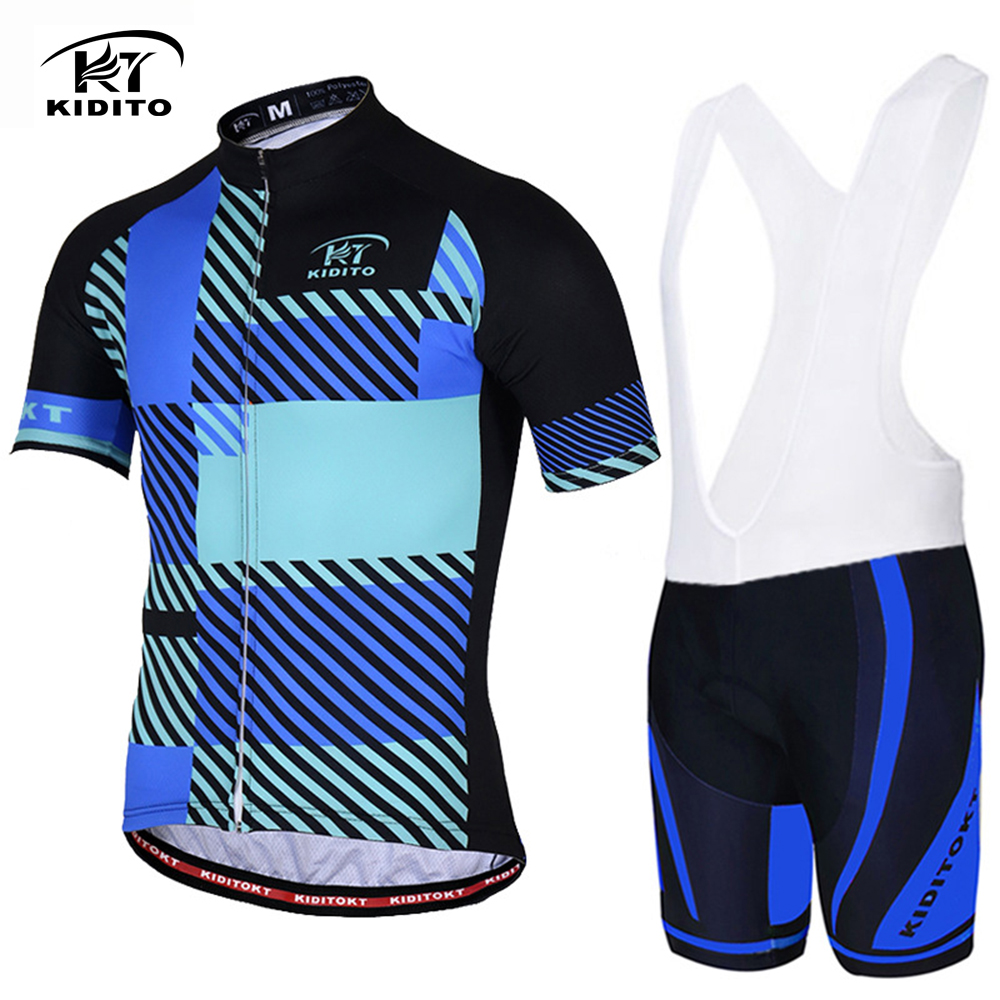 Mens Cycling Jersey Short Sleeve Bib Shorts Set Bicycle Suit Cycling Bib Shorts