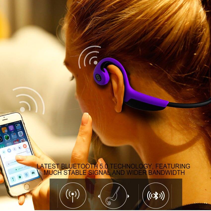 Bluetooth 5.0 Z8 casque sans fil écouteurs de Conduction osseuse casque de Sport en plein air avec micro - 2