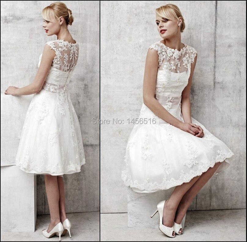 PRD-W77 2016 Haute qualité Une ligne Applique Genou longueur robe de ...