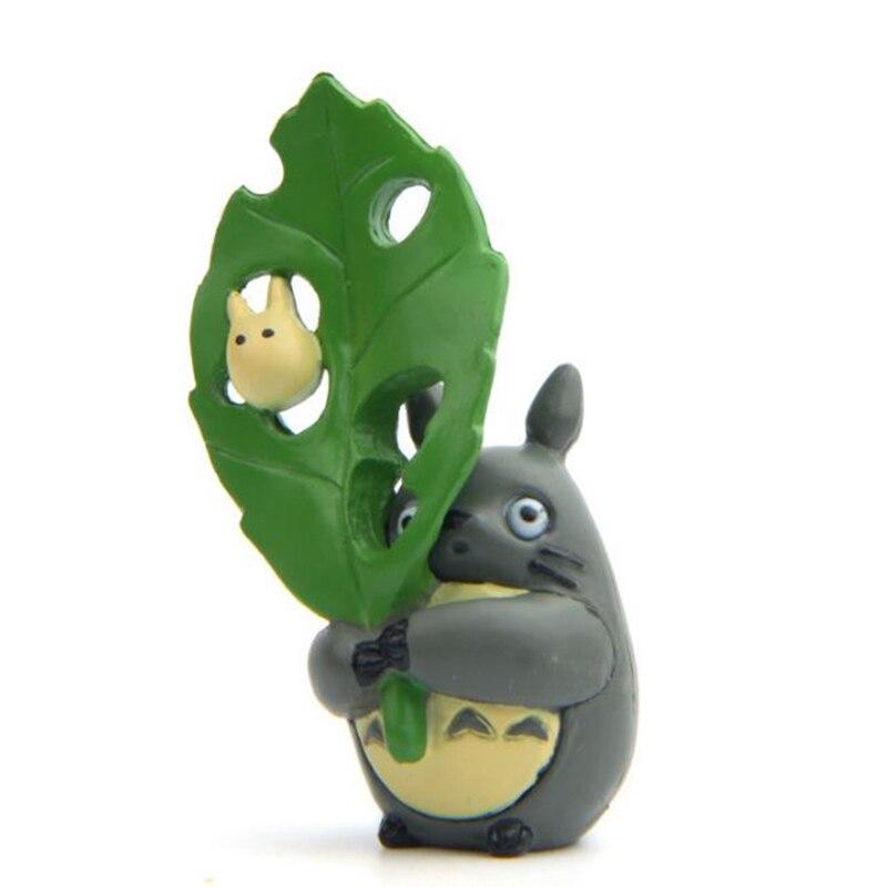 1 Stück Kawaii Mein Nachbar Totoro Action-figuren Spielzeug Totoro Halten Große Green Leaf Sammlung Modell Puppe Geschenke Für Kinder Rheuma Lindern