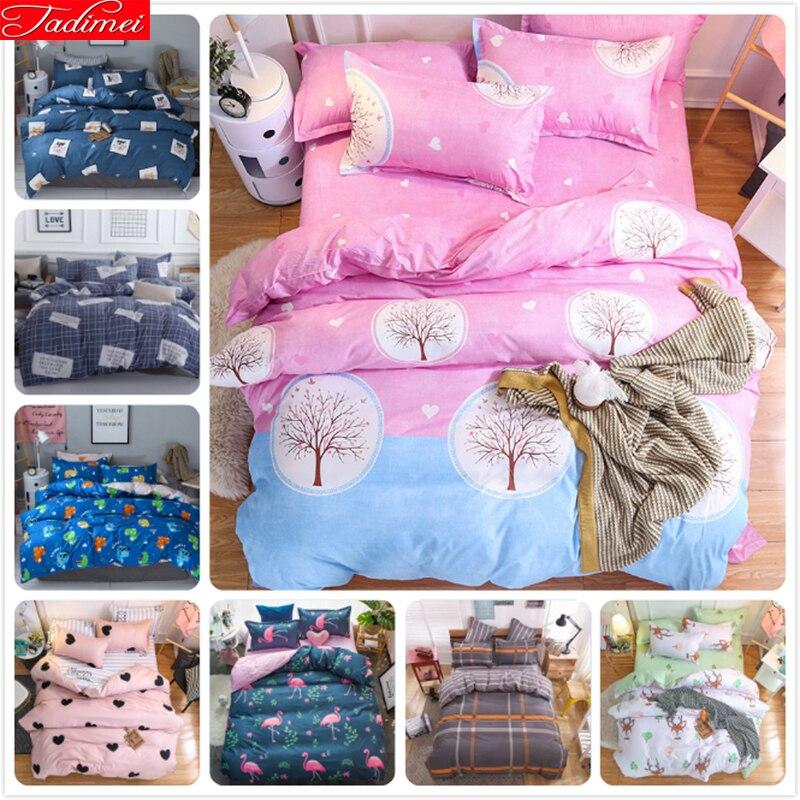 Power Source Careful Pink Blue Kids Girl Soft Cotton Bedding Set 3pcs/4pcs Bedlinens Single Twin Queen King Double Size Duvet Cover Bed Linen 150x200 In Short Supply