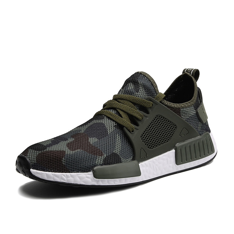 Men Casual Running Shoes Spring Summer Camouflage Sneaker Fa