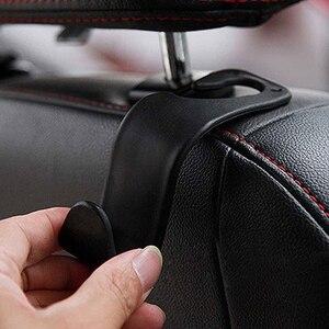 Image 5 - 2個ユニバーサルカーシートバックフックハンガー自動食料品トランクコート用財布バッグ雑貨フックヘッドレストマウント収納