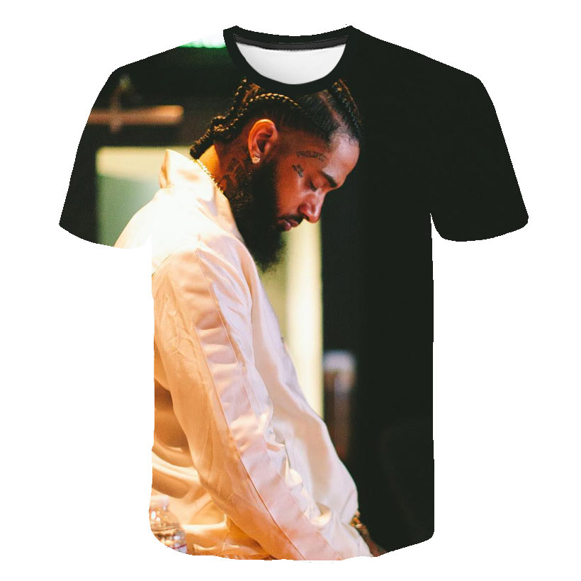 3D Hip Hop nipsey hussle   t     Shirt   Rapper men/women classic   t     shirt   Summer soft Short Sleeve Harajuku nipsey hussle quality tshirt