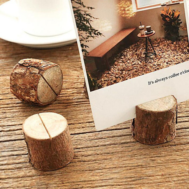 100 Stucke Kreative Holz Tischkarte Foto Nummer Name Halter Fur
