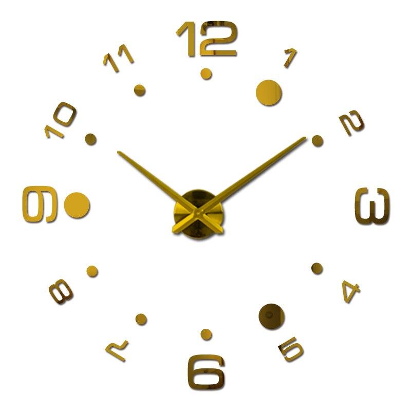 nové 3d nástěnné hodiny diy hodiny reloj de pared křemenné hodinky obývací pokoj jednoduchá láska kruhové akrylové zrcadlové samolepky horloge