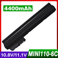 4400 мАч батареи ноутбука для HP Mini 1101 110 110-1000 537626-001 HSTNN-CB0C NY221AA для COMPAQ Mini 102 CQ10-166SB CQ10-170SS