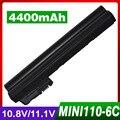 4400mAh laptop battery for HP Mini 1101 110 110-1000 537626-001 HSTNN-CB0C NY221AA for COMPAQ Mini 102 CQ10-166SB CQ10-170SS