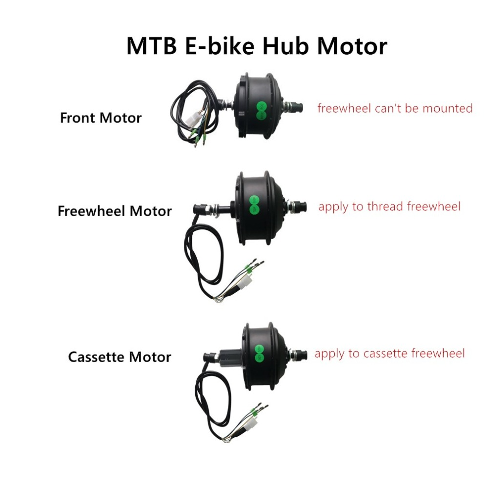 36V E bike Motor 250W 350W 500W MTB Mountain Electric Bicycle Brushless Geared Front Motor Cassette