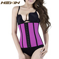 HEXIN Summer Breathable Latex Waist Cincher Corset Underbust Workout Waist Trainer Hollow Out Body Shaper Steel Boned Slim Belt
