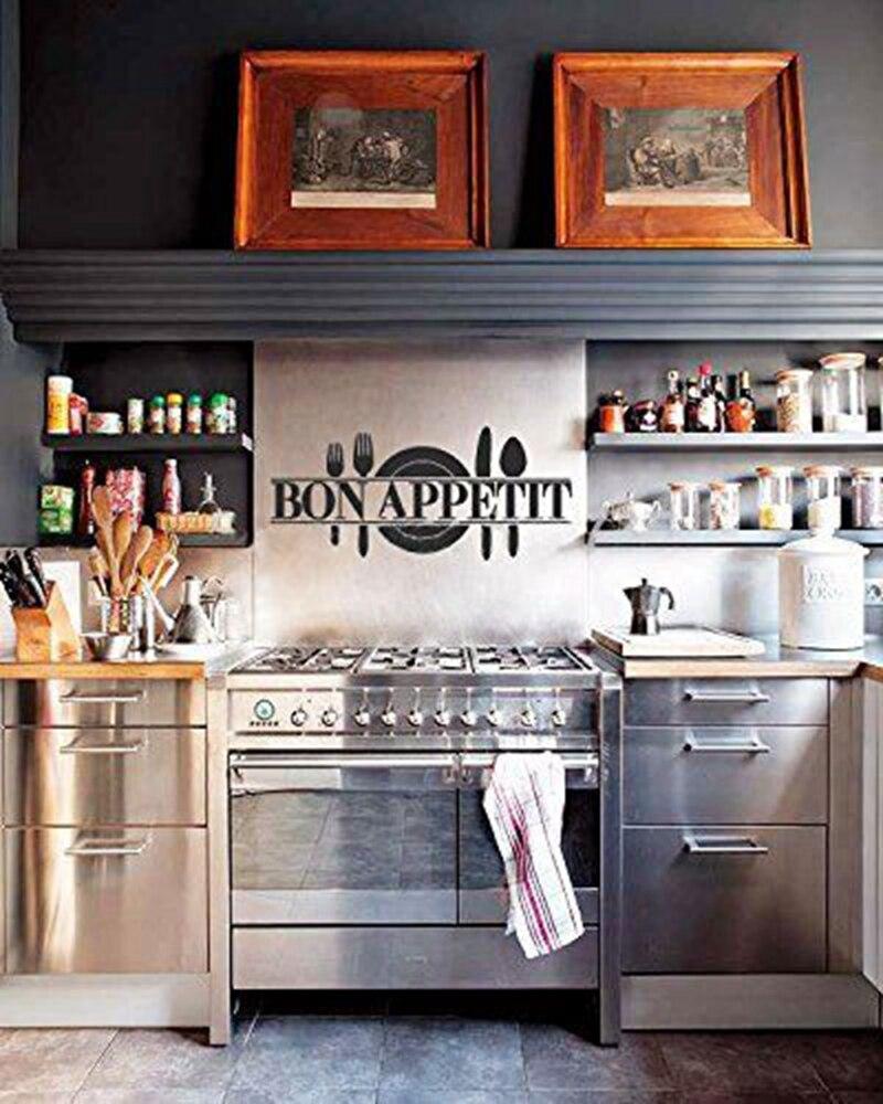 French Bon Appetit Kitchen Restaurant Wall Decals Decor Hot Modern Romantic Vinyl
